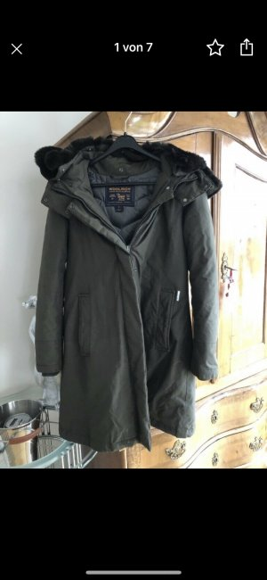 Woolrich Giacca invernale marrone scuro-cachi