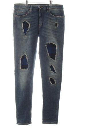Woolrich Slim Jeans blau Casual-Look