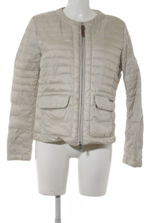 Woolrich Quilted Jacket cream quilting pattern casual look