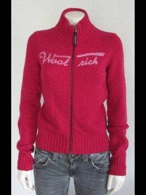 Woolrich Gebreid jack rood