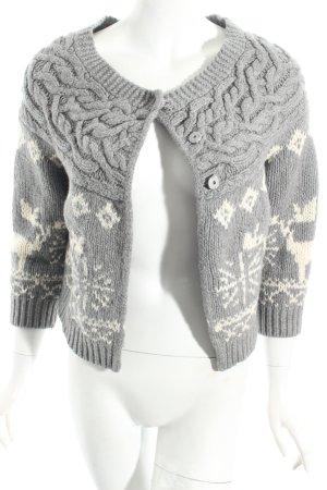 Woolrich Strickjacke grau-wollweiß Kuschel-Optik