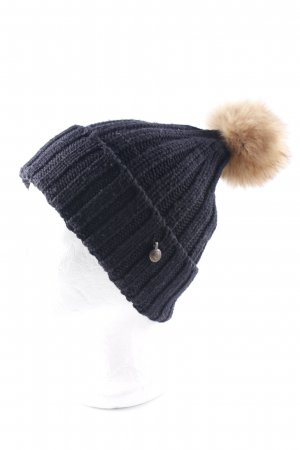Woolrich Knitted Hat black-sand brown casual look