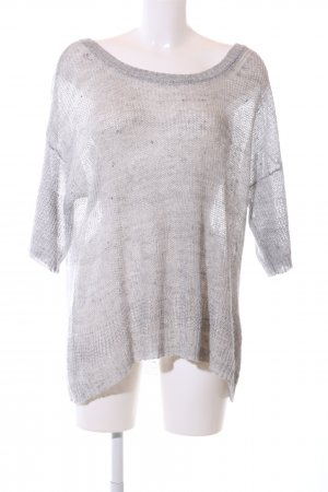 Woolrich Knitted Sweater light grey flecked casual look