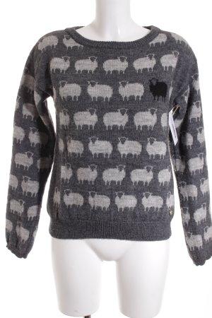 Woolrich Strickpullover grau-hellgrau Animal-Look