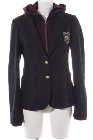 Woolrich Sweatblazer schwarz-purpur extravaganter Stil
