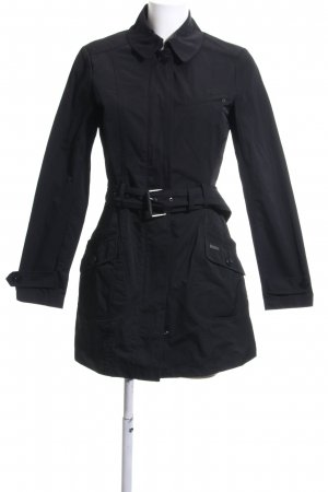 Woolrich Trench Coat black casual look