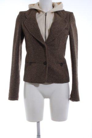 Woolrich Blazer en tweed brun-crème motif graphique style décontracté