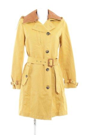 Woolrich Cappotto mezza stagione arancione chiaro-marrone chiaro stile casual