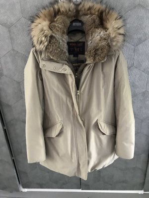 Woolrich Winter Coat cream-beige pelt
