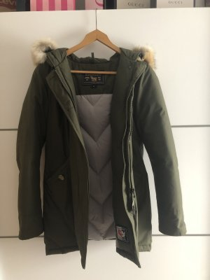 Woolrich Down Jacket green grey-khaki