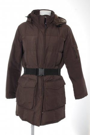 Woolrich Giacca invernale marrone scuro-beige stile atletico