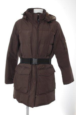 Woolrich Chaqueta de invierno marrón oscuro-beige estilo deportivo