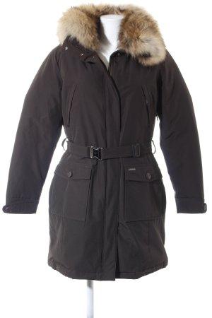 Woolrich Winterjack grijs-bruin casual uitstraling