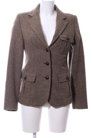 Woolrich Blazer en laine brun-blanc cassé moucheté style décontracté