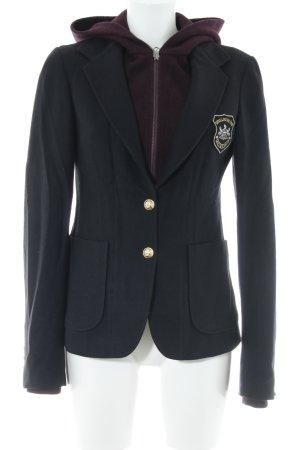 Woolrich Blazer en laine noir-rouge foncé style d'affaires