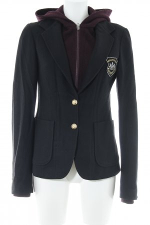 Woolrich Woll-Blazer schwarz-dunkelrot Business-Look