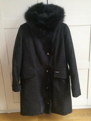 Woolrich Wollmantel Emily Coat mit Fell, neu mit Rechnung und Etikett