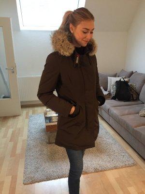 Woolrich Down Jacket grey brown-cream