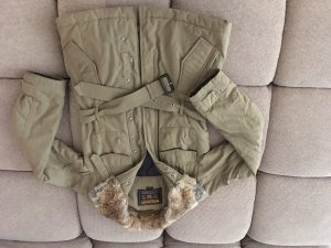 Woolrich Parka green grey nylon