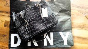 WOOOOW!!! NEU mit Etikett!!! Original DKNY Handtasche in schwarz/gold, echtes Leder!