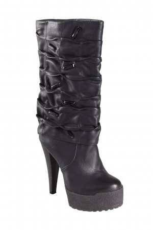 World*Way Slouch-Stiefel mit Ziersteinen