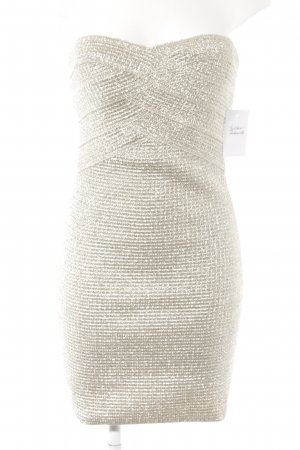 WOW Couture Bandeaukleid silberfarben-nude Casual-Look