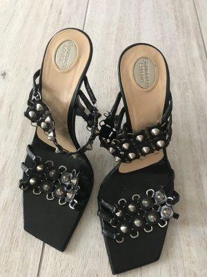 Gianmarco Lorenzi Strapped High-Heeled Sandals black