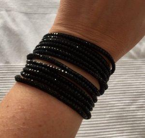Wow!!! Glitzerndes Armband in schwarz!