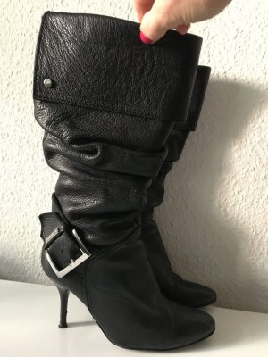 KAREN MILLEN Heel Boots black leather
