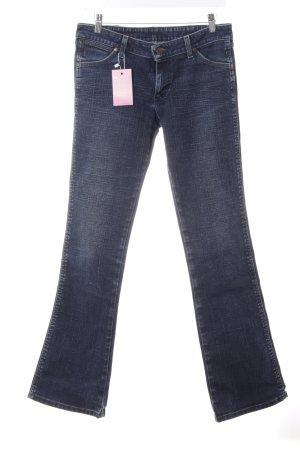 Wrangler Boot Cut Jeans dunkelblau Casual-Look