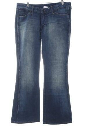 Wrangler Boot Cut Jeans stahlblau Casual-Look