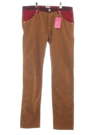 Wrangler Pantalone di velluto a coste arancione chiaro stile casual