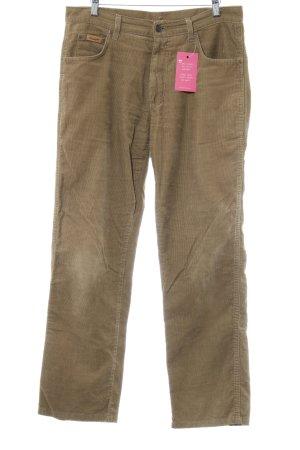 Wrangler Pantalone di velluto a coste color cammello motivo a righe stile casual