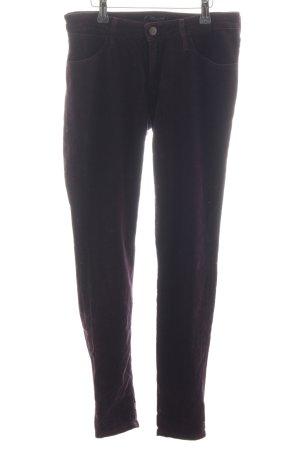 Wrangler Pantalon en velours côtelé noir style décontracté