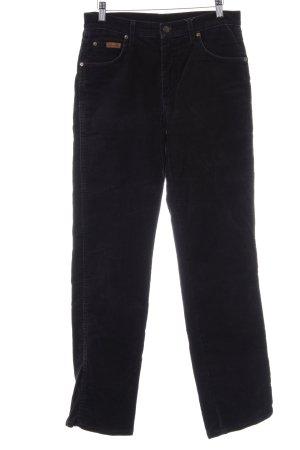 Wrangler Pantalone di velluto a coste nero stile casual