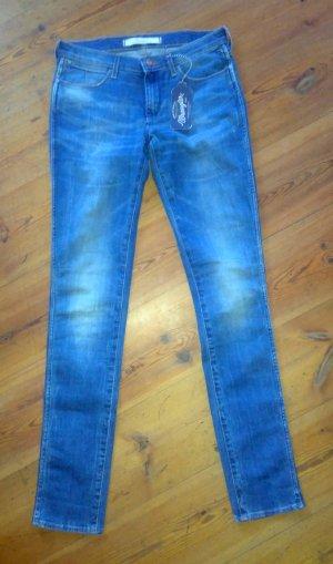 Wrangler Corynn Skinny Jeans Röhrenjeans Gr. 29/34 neu mittelblau
