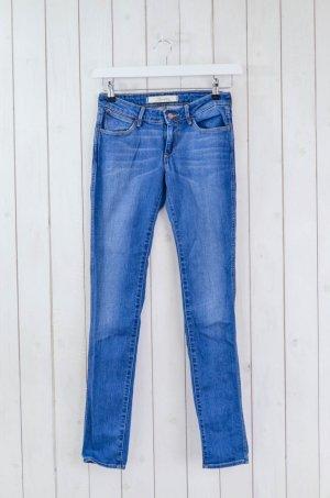 WRANGLER Damen Jeans Slim Schmal Mod.Courtney Blau Baumwolle Elastan Gr.26/32