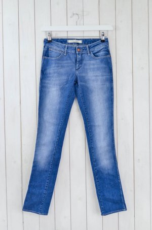 WRANGLER Damen Jeans Slim Schmal Mod.Courtney Blau Baumwolle Elastan Gr.26/34