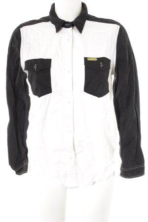 Wrangler Hemd-Bluse schwarz-weiß Casual-Look
