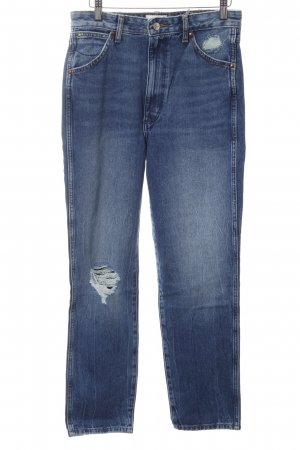 Wrangler Hoge taille jeans blauw casual uitstraling