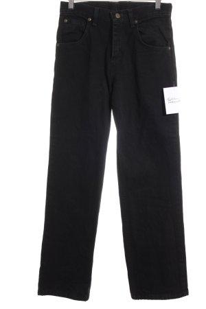 Wrangler High Waist Jeans schwarz schlichter Stil