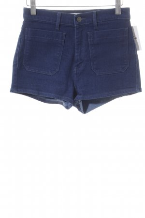 Wrangler High-Waist-Shorts blau Casual-Look