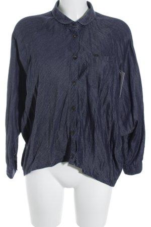 Wrangler Jeanshemd graublau Jeans-Optik
