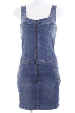 Wrangler Jeanskleid stahlblau Jeans-Optik