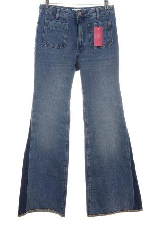 Wrangler Jeansschlaghose blau Casual-Look