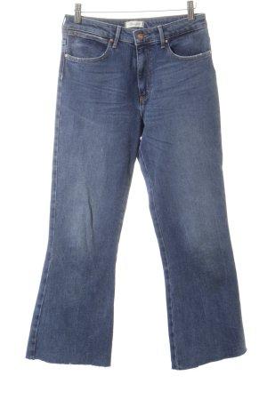 Wrangler Jeansschlaghose blau Destroy-Optik