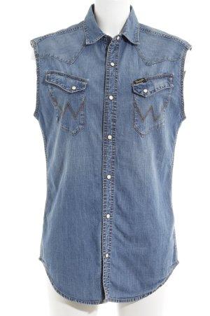 Wrangler Jeansweste stahlblau Casual-Look
