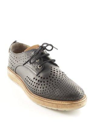 Wrangler Schnürschuhe schwarz-beige Casual-Look
