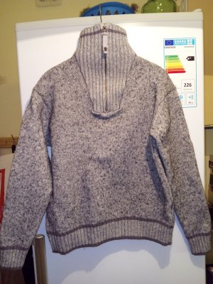 Wrangler Turtleneck Sweater taupe-silver-colored mixture fibre