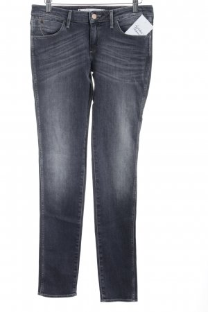 Wrangler Skinny Jeans anthrazit-wollweiß Washed-Optik